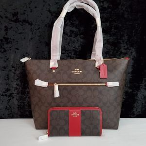 💎NWT COACH GALLERY TOTE & MATCHING WALLET